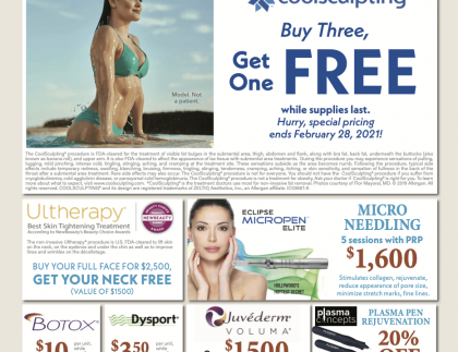 new year coolsculpting prmos laser deals botox pricing deep skin filler promotions